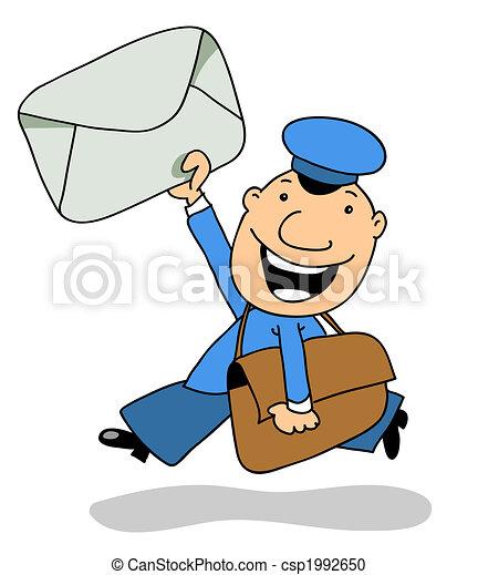 Facteur ours sac lettre sourires - Facteur dessin ...