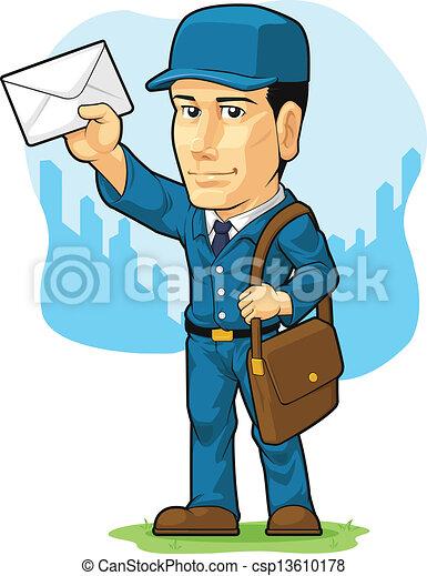 Facteur postier ou dessin anim disponible colorer image postman mailman gai bon - Facteur dessin ...