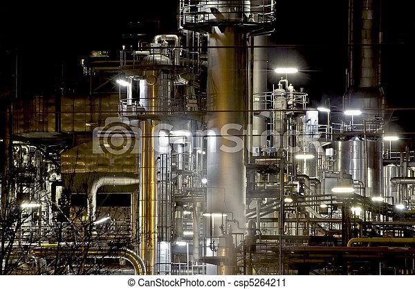 Factory at Night - csp5264211