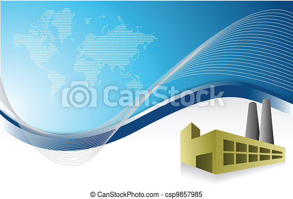 factory blue business background - csp9857985