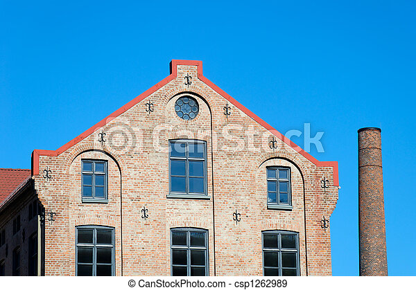 Factory Building and Chimney  - csp1262989