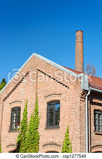 Factory Building and Chimney  - csp1277549