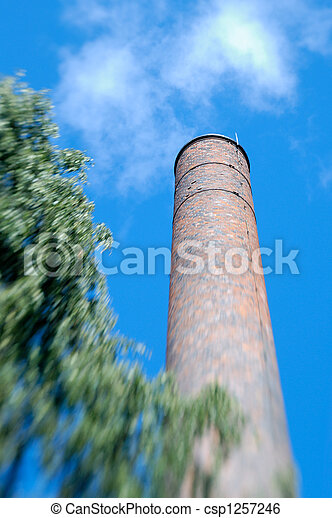 Factory Chimney Zoom  - csp1257246