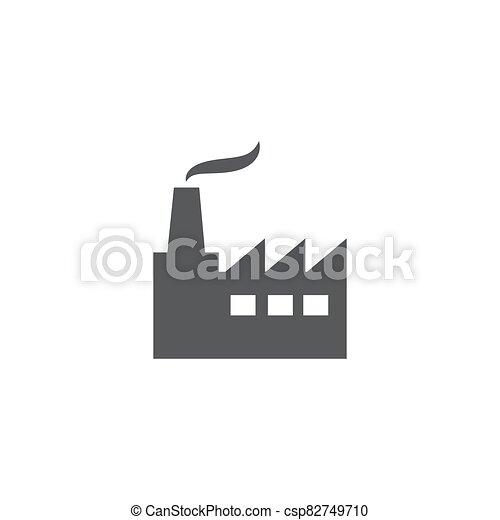 Factory icon on white background - csp82749710