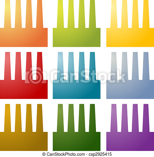 Factory icons clipart set - csp2925415