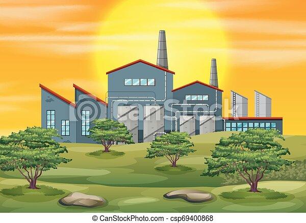 Factory in nature scene - csp69400868