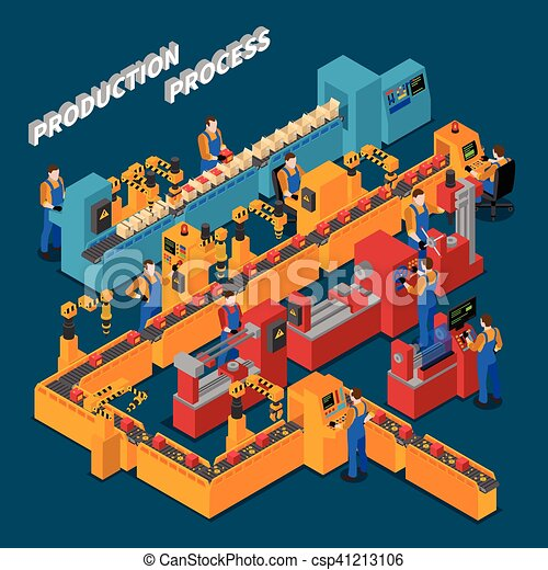 Factory Isometric Composition - csp41213106