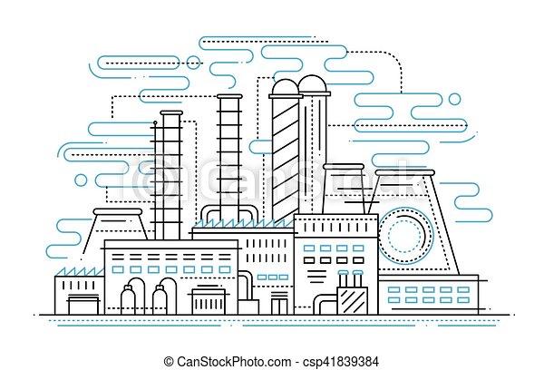 Factory - line design composition on