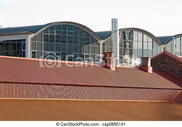 Factory Rooftops - csp0885141