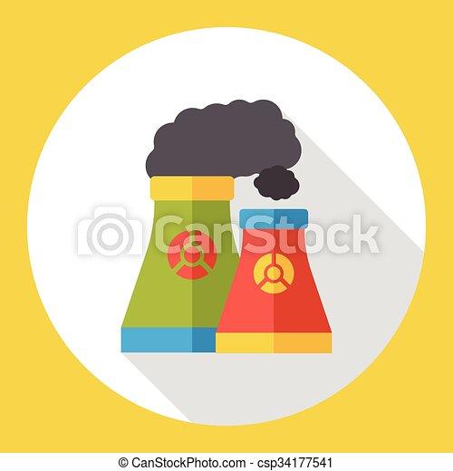 factory smoke flat icon - csp34177541