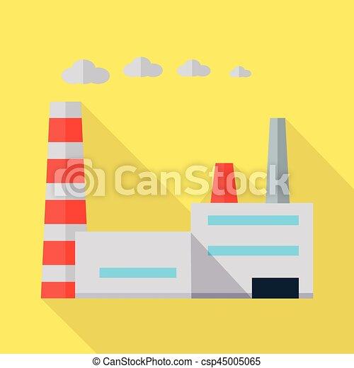 Factory Vector Illustration in Flat Design. - csp45005065