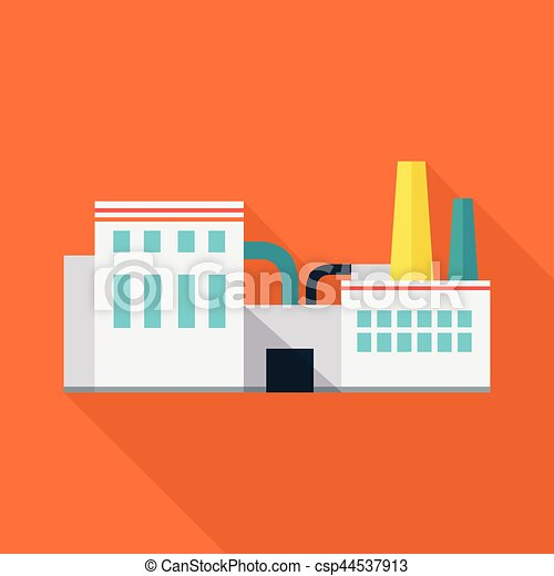 Factory Vector Illustration in Flat Design. - csp44537913