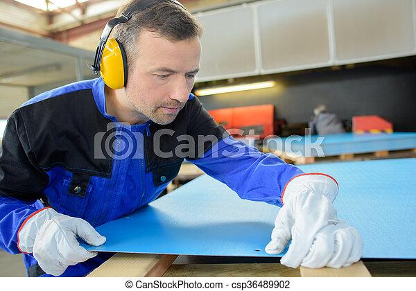 factory worker - csp36489902