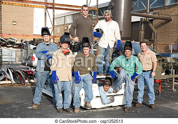 Factory Workers and Supervisor - csp1252513