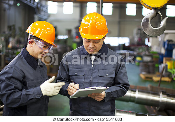 Factory workers - csp15541683