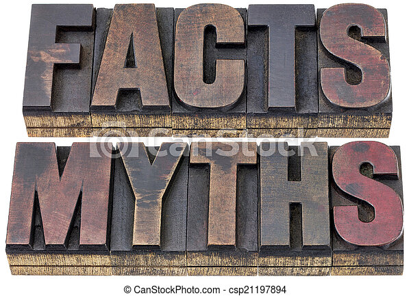 facts and myths in wood type - csp21197894