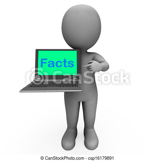 Facts Character Laptop Shows Honesty Data And Knowledge - csp16179891