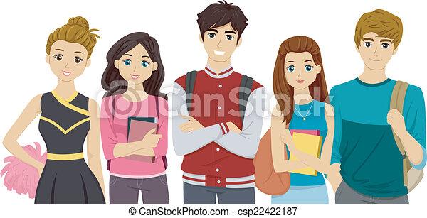 faculdade, cliques - csp22422187