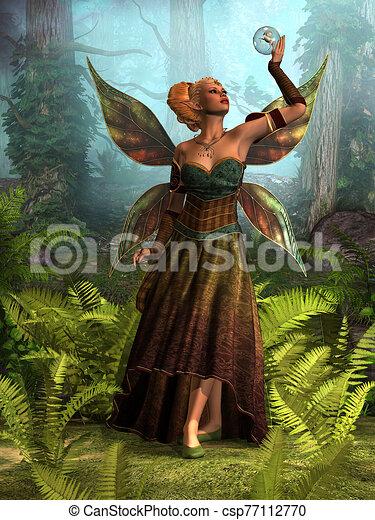 fada, rainha, belle - csp77112770