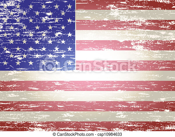 faded american flag grungy faded and distressed american flag