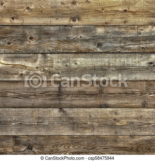 Faded worn pine wood background square format - csp58475944