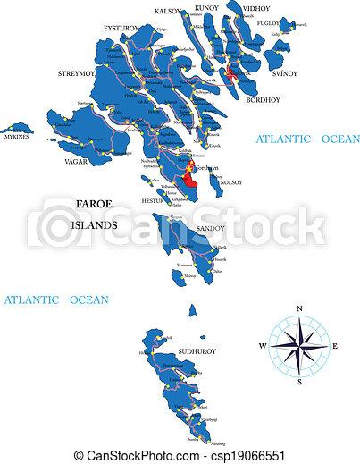 Faeroe Islands map - csp19066551