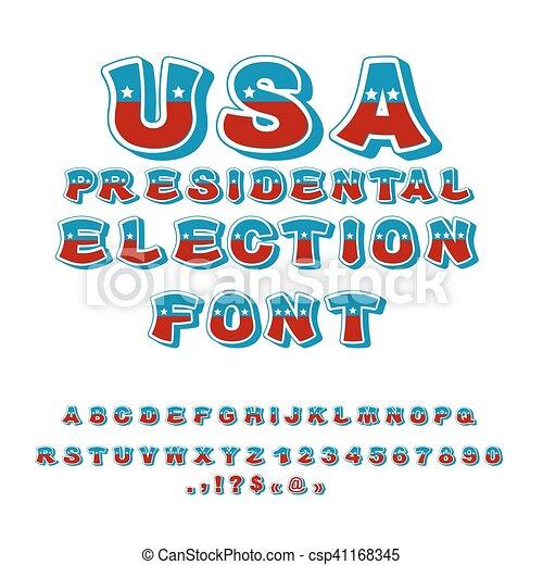 Fahne, alphabet., usa, abc., politisch, farben, debatte,... EPS ...