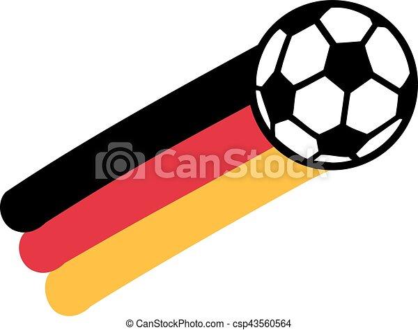 Deutschland Flagge Mit Fussball