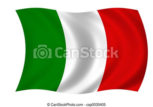 fahne, italien - csp0030405