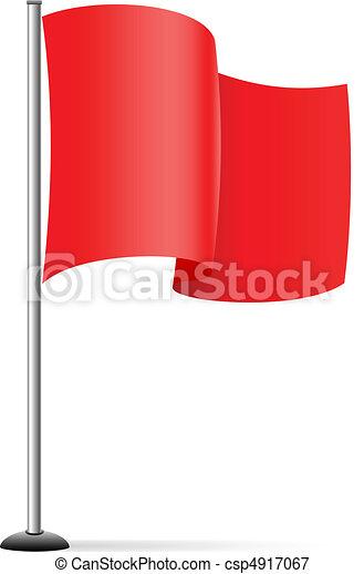 fahne, rotes  - csp4917067