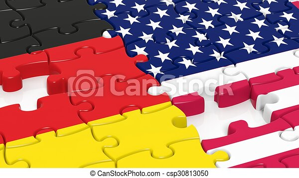 fahne stichsaege deutschland usa puzzel stock illustrationen clipart zeichnungen. Black Bedroom Furniture Sets. Home Design Ideas