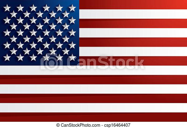 Flagge der USA - csp16464407