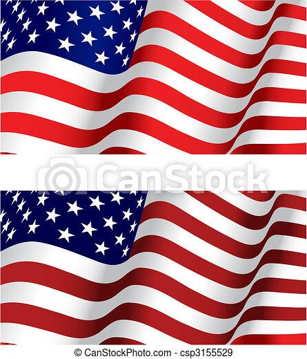 Flagge der USA - csp3155529