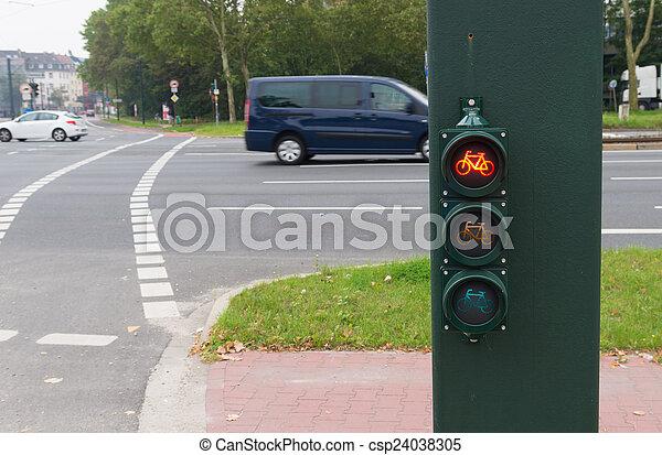 Fahrrad Ampel Licht Bicycles Verkehr Rotes