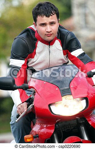 Motorrad fetter mann auf Corinna, Marisa