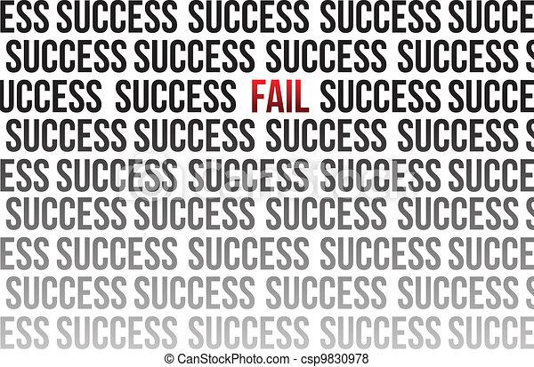 fail around success illustration - csp9830978