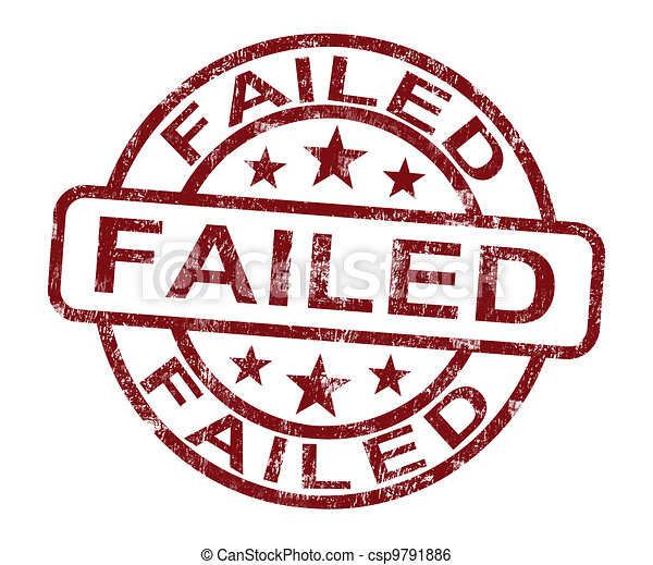 Failed Stamp Showing Reject Or Failure - csp9791886