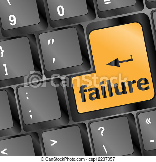 failure button on computer keyboard showing internet concept - csp12237057