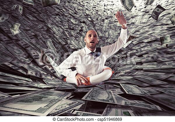 Failure of a businessman. - csp51946869