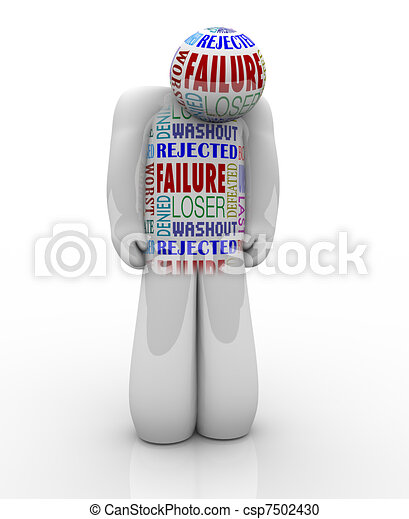 Failure - Sad Person Loser Denied and Unsuccessful - csp7502430