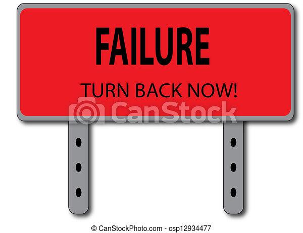 Failure Sign Concept - csp12934477