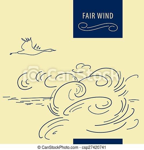Fair wind background - csp27420741