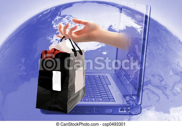 faire courses ligne - csp0493301