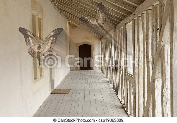 fairies in the hallway - csp19063809
