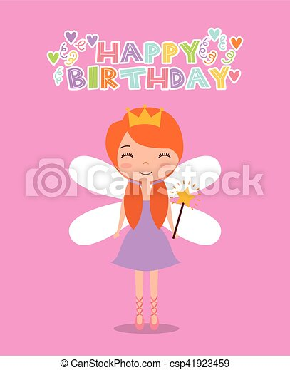 Fairy birthday card happy birthday card with cute fairy clipart fairy birthday card csp41923459 bookmarktalkfo Image collections