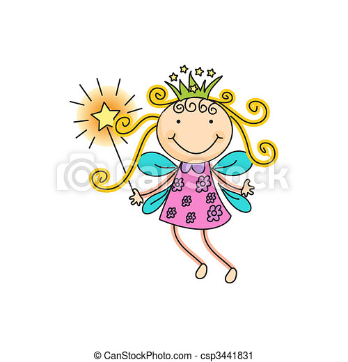 a beautiful vector illustration of a fairy with crown and magic stick rh canstockphoto com fairy wings images clip art fairy wings images clip art