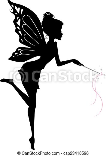 Fairy Silhouette - csp23418598
