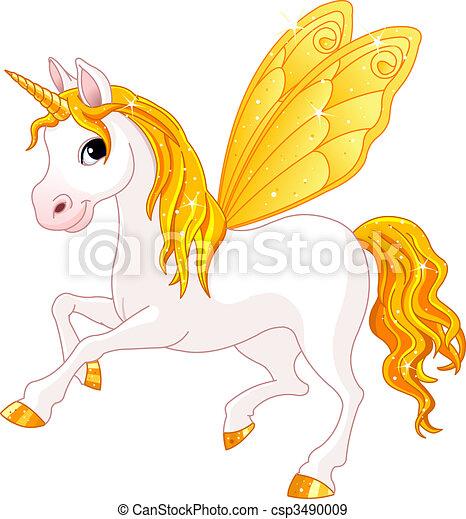 Fairy Tail Yellow Horse - csp3490009