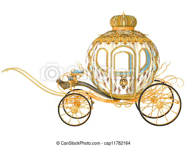 fairy tale carriage isolated on the white background stock rh canstockphoto com cinderella carriage clipart free cinderella horse and carriage clipart