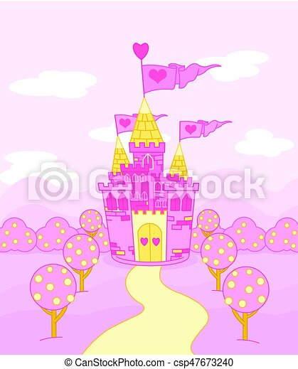 Fairy Tale Castle - csp47673240